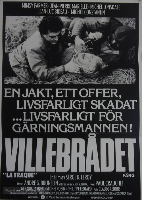La traque - Swedish Movie Poster