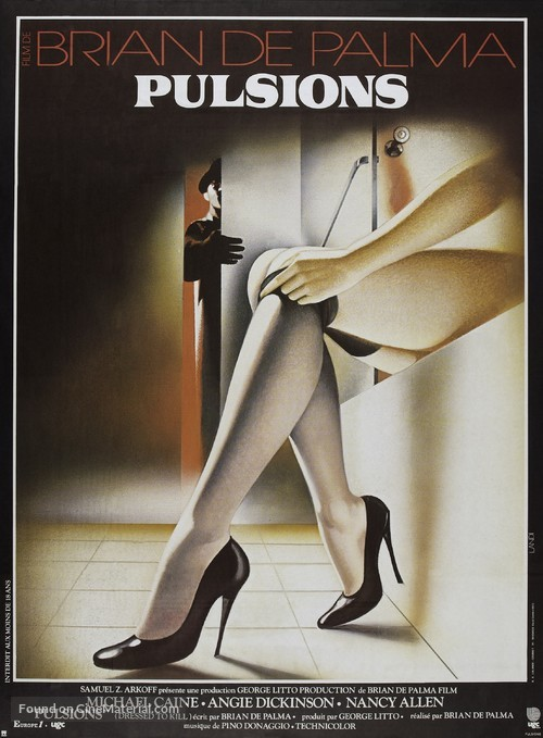 Dressed to Kill - French Movie Poster