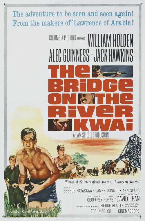 The Bridge on the River Kwai - Re-release movie poster