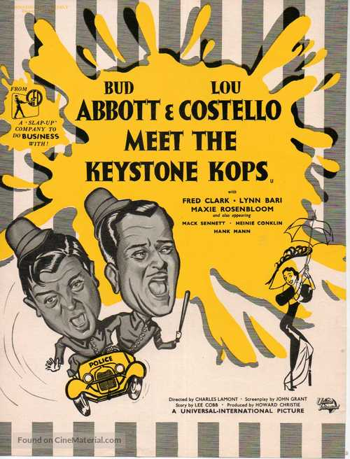 Abbott and Costello Meet the Keystone Kops - British Movie Poster