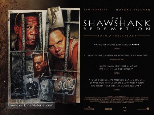 The Shawshank Redemption - British Movie Poster