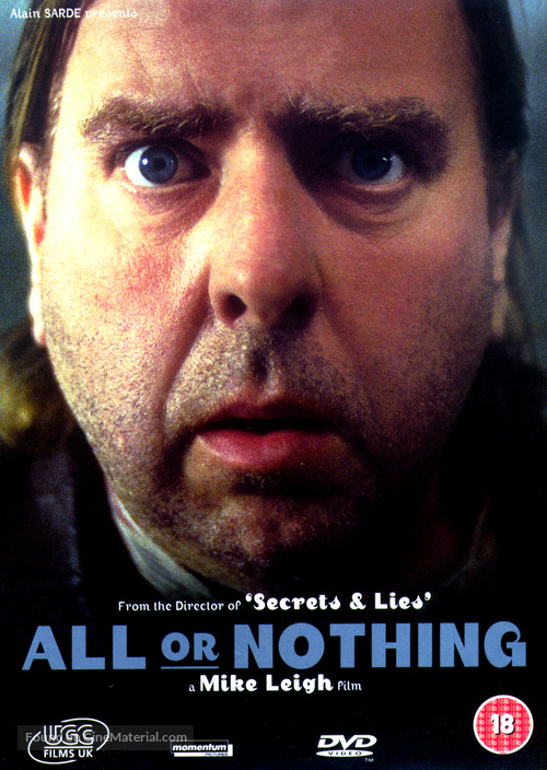 All or Nothing - British DVD movie cover