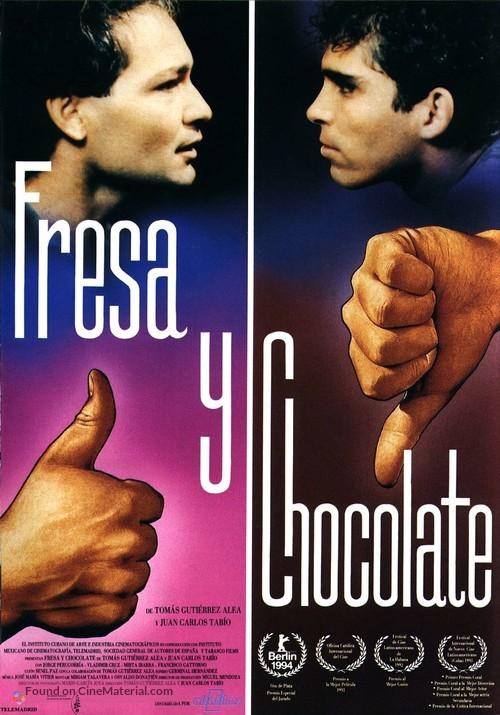 Fresa y chocolate - Spanish Movie Poster