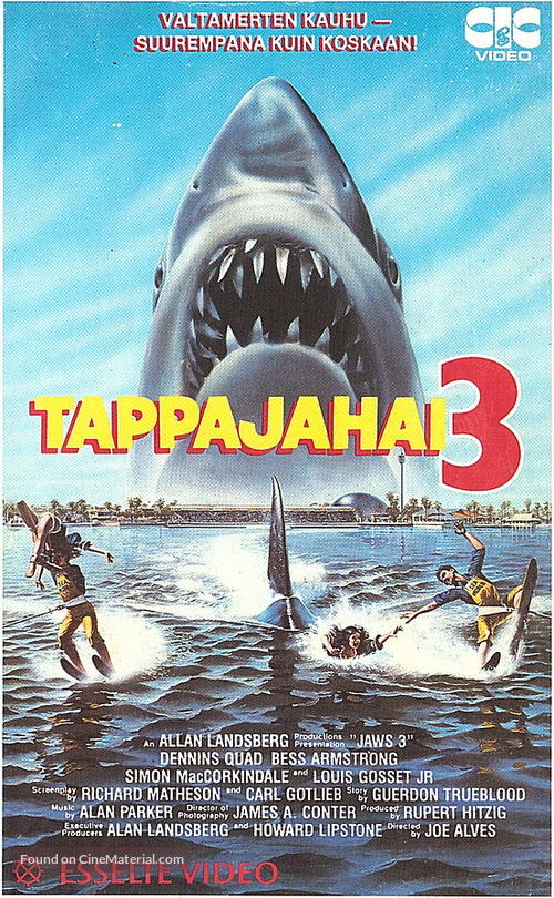 Jaws 3D - Finnish VHS movie cover