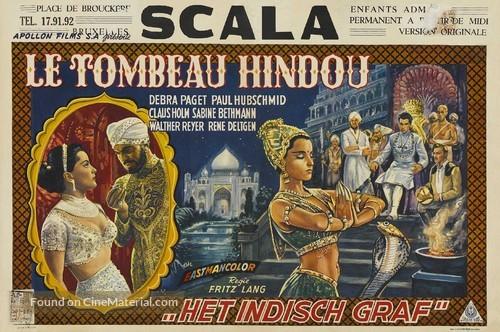 Das iIndische Grabmal - Belgian Movie Poster