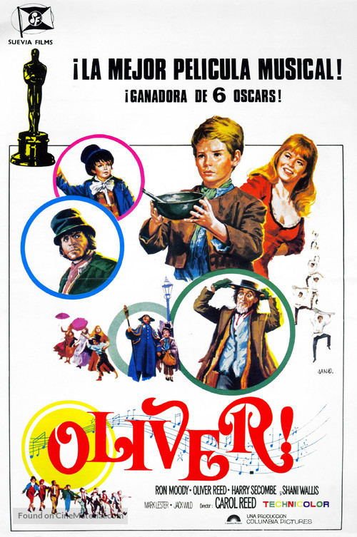 Oliver! - Spanish Movie Poster