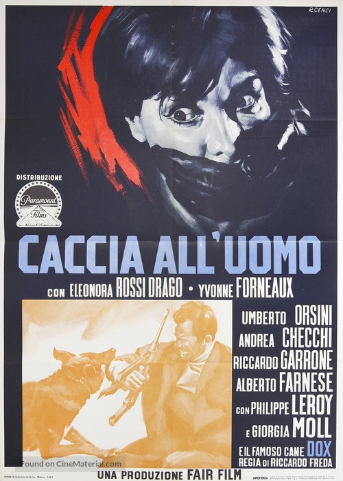 Caccia all'uomo - Italian Movie Poster