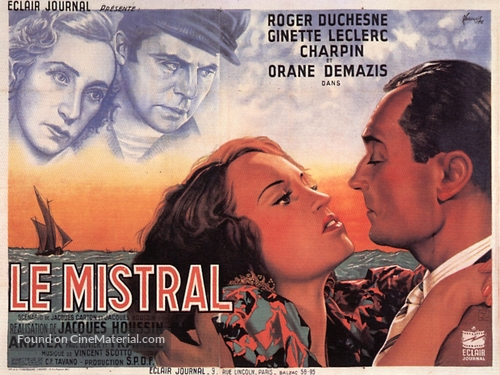 Le mistral - French Movie Poster