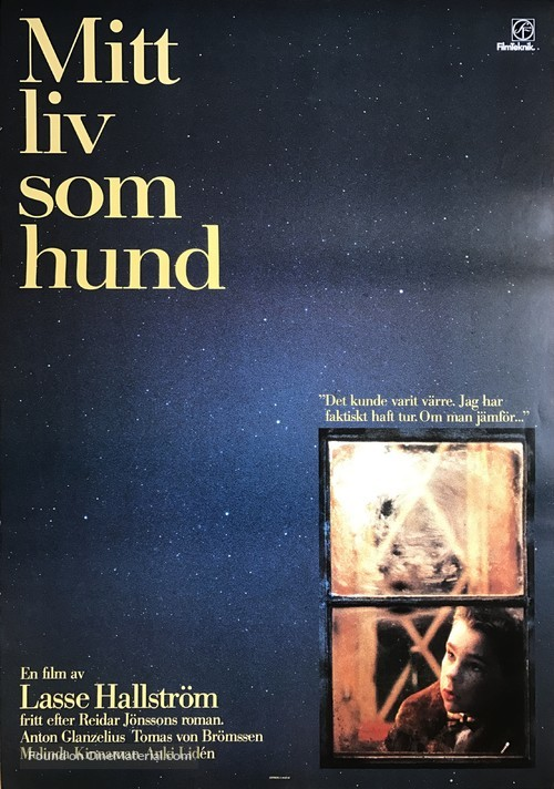 Mitt liv som hund - Swedish Movie Poster