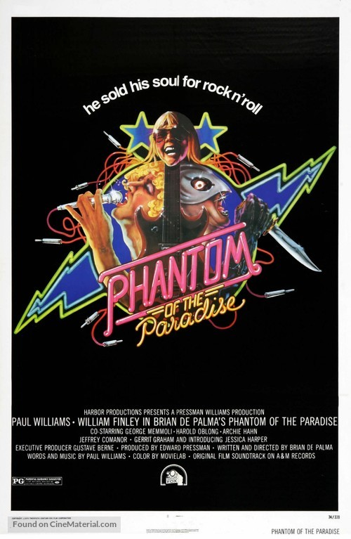 Phantom of the Paradise - Theatrical movie poster