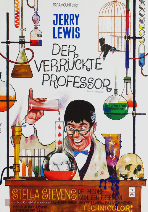 The Nutty Professor - German Movie Poster