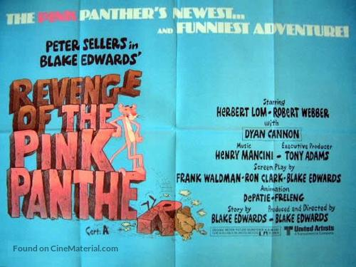 Revenge of the Pink Panther - British Movie Poster