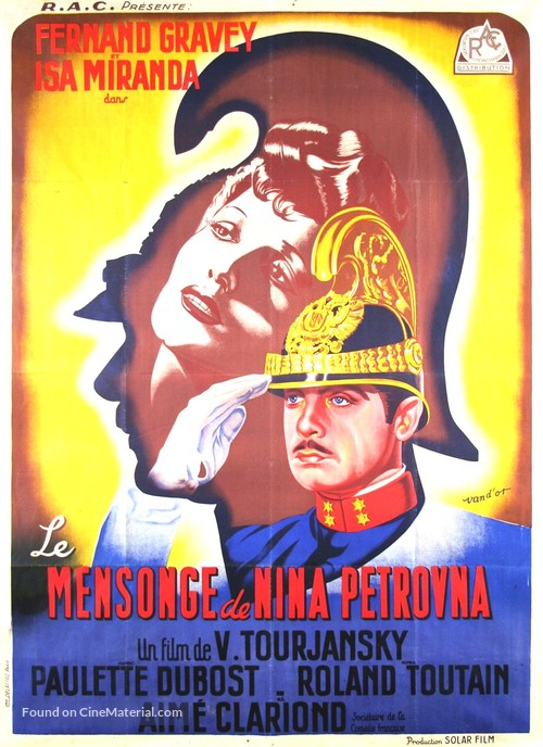 Mensonge de Nina Petrovna, Le - French Movie Poster