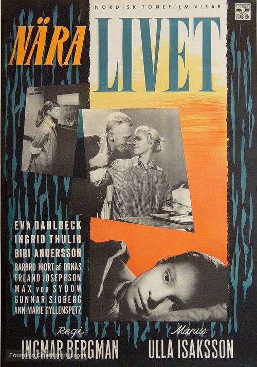 Nära livet - Swedish Movie Poster