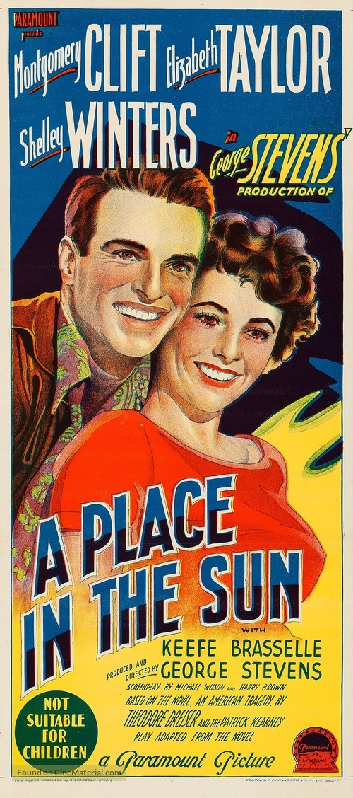 A Place in the Sun - Australian Movie Poster