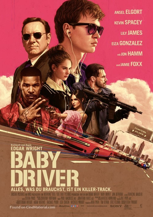 Baby Driver - German Movie Poster