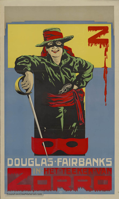 The Mark of Zorro - Dutch Movie Poster