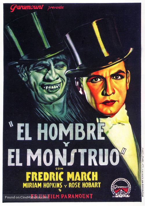 Dr. Jekyll and Mr. Hyde - Spanish Movie Poster