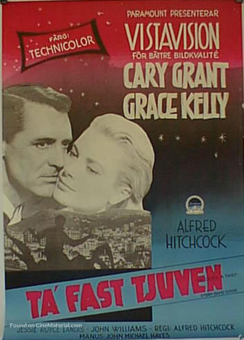 To Catch a Thief - Swedish Movie Poster