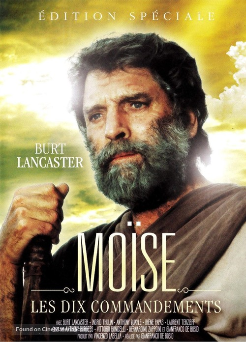 """Moses the Lawgiver"" - French DVD movie cover"