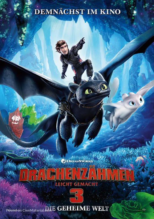 How to Train Your Dragon: The Hidden World - German Movie Poster