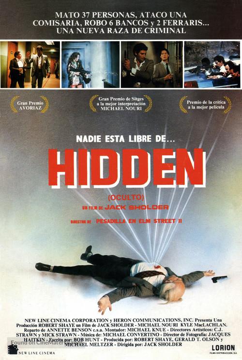 The Hidden - Spanish Movie Poster