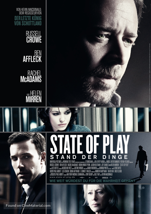State of Play - German Movie Poster