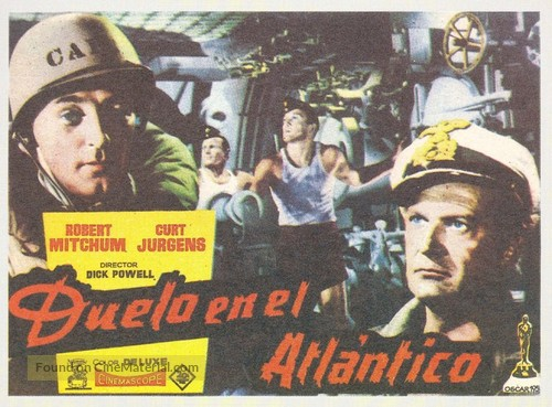 The Enemy Below - Spanish Movie Poster