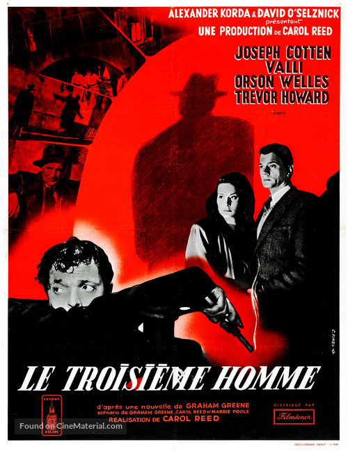 The Third Man - French Movie Poster