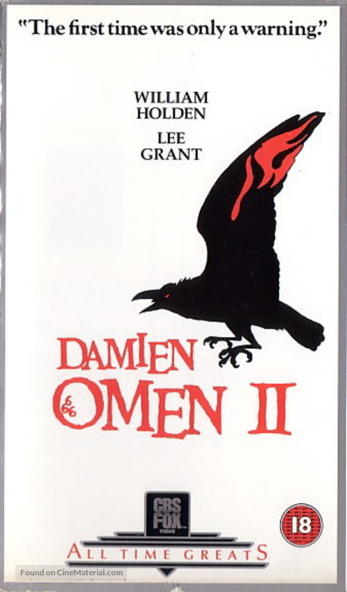 Damien: Omen II - British Movie Cover