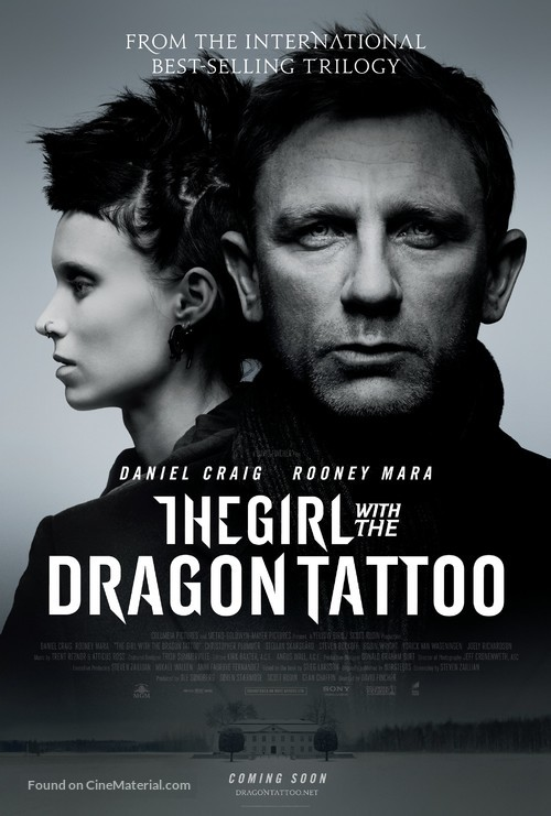 The Girl with the Dragon Tattoo - British Movie Poster