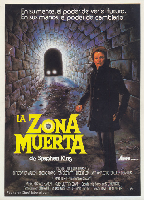The Dead Zone - Spanish Movie Poster