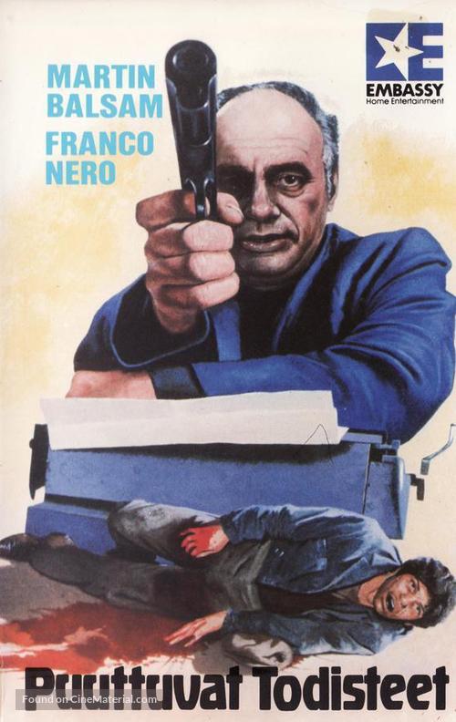 Confessione di un commissario di polizia al procuratore della repubblica - Finnish VHS movie cover