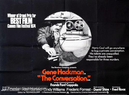 The Conversation - British Movie Poster