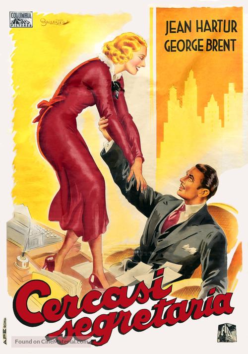 More Than a Secretary - Italian Movie Poster