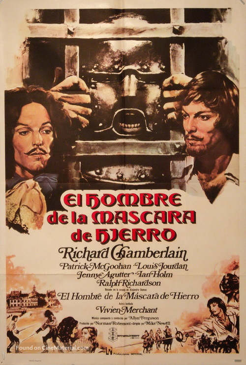 The Man in the Iron Mask - Spanish Movie Poster