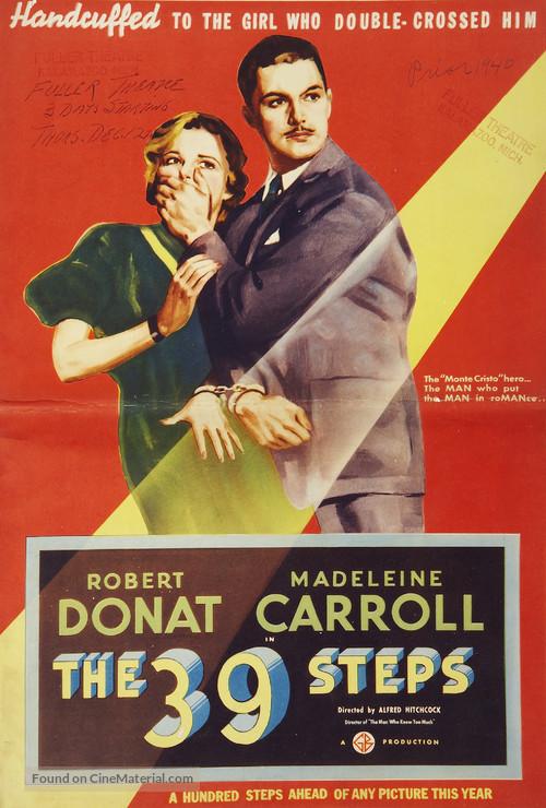 The 39 Steps - British Movie Poster