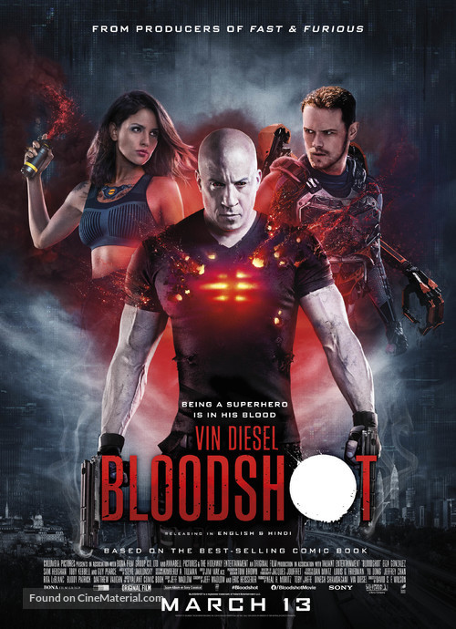 Bloodshot - Indian Movie Poster