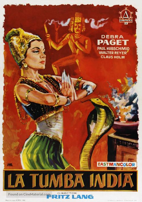 Das iIndische Grabmal - Spanish Movie Poster