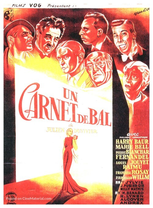 Un carnet de bal - French Movie Poster