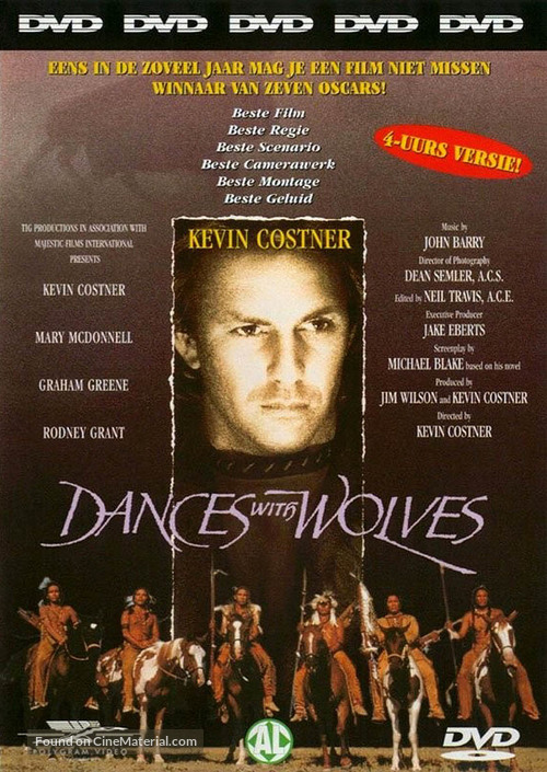 Dances with Wolves - Dutch DVD movie cover