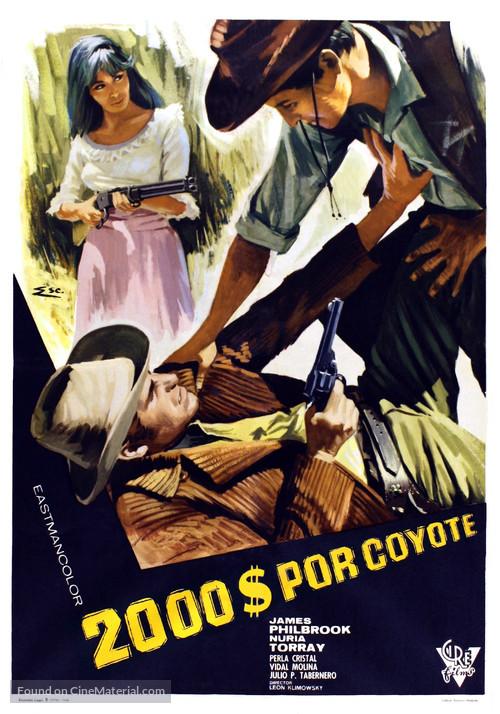 Dos mil dólares por Coyote - Spanish Movie Poster