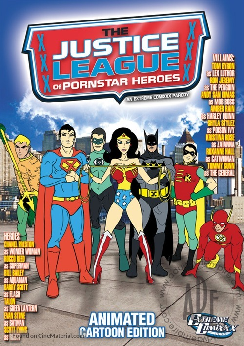 Justice League Of Porn Star Heroes Dvd Cover-6560