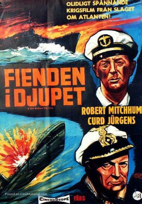 The Enemy Below - Swedish Movie Poster