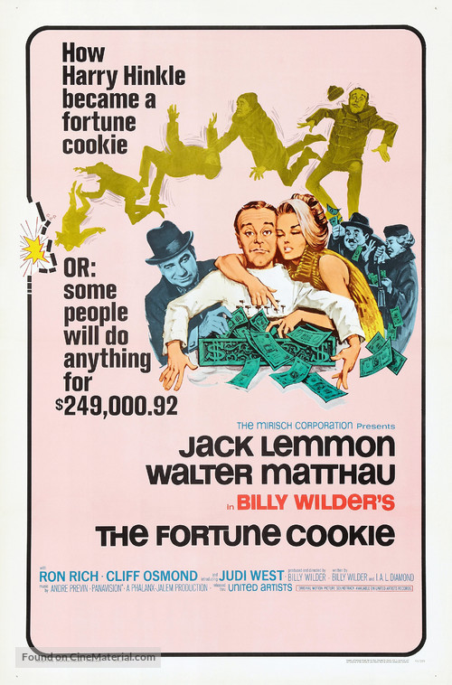 The Fortune Cookie - Theatrical movie poster