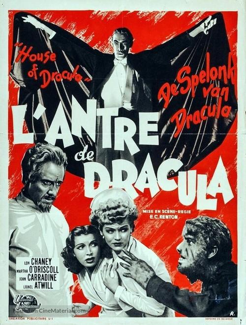 House of Dracula - Belgian Movie Poster
