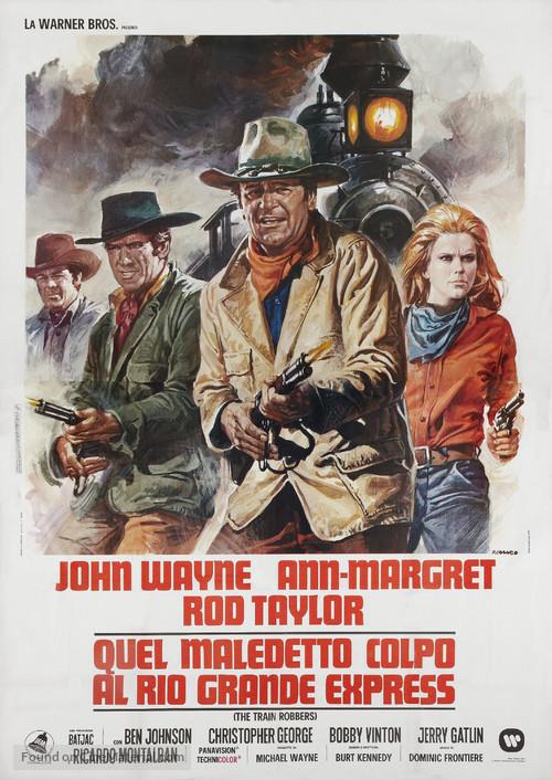 The Train Robbers - Italian Movie Poster