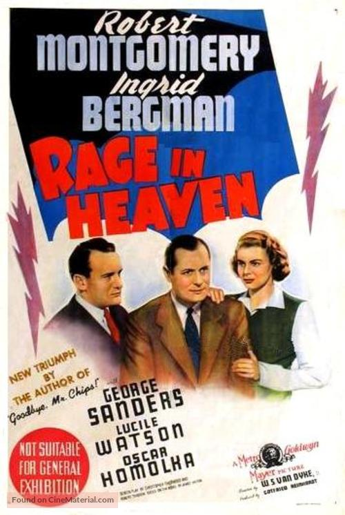 Rage in Heaven - Australian Movie Poster
