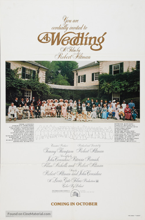 A Wedding - Movie Poster