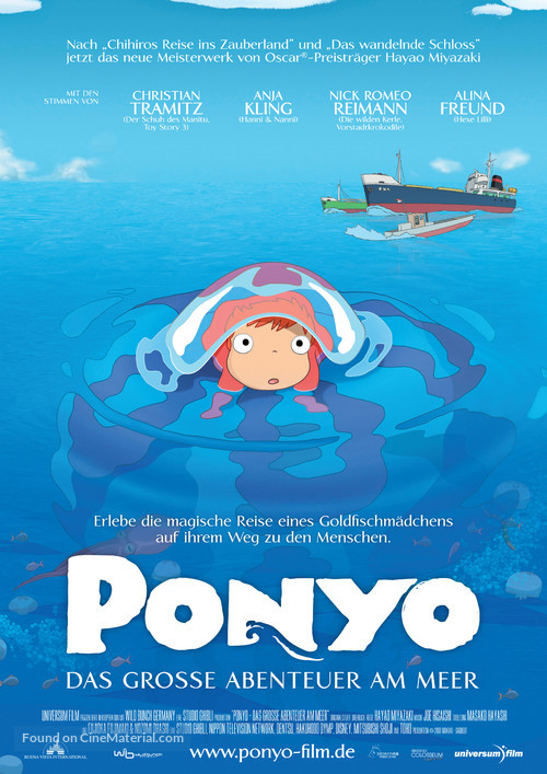 Gake no ue no Ponyo - German Movie Poster